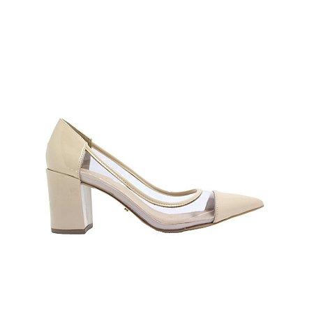 Sapato Feminino Scarpin SHEPZ Vinil Nude