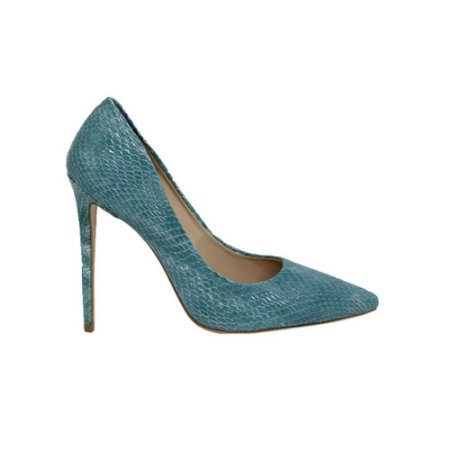 Sapato Feminino Scarpin SHEPZ Salto Alto Bico Fino Azul Tiffany