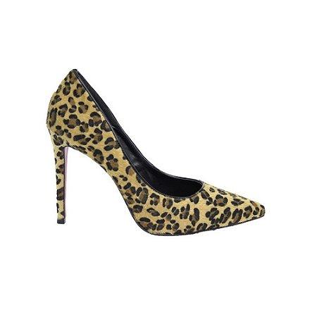 Sapato Feminino Scarpin SHEPZ Salto Alto Bico Fino Animal Print