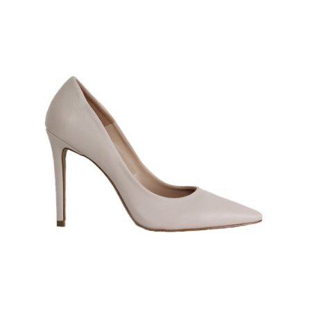 Sapato Feminino Scarpin SHEPZ Salto Alto Bico Fino Creme
