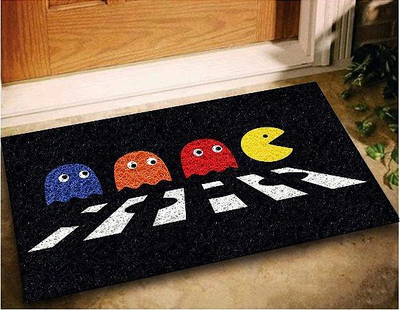 Tapete Capacho Pac-Man Game 60x40 Casa Entrada Lar Jogos