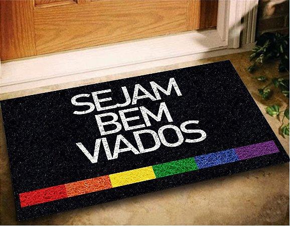 Tapete Capacho Sejam Bem Viados 60x40 LGBTQIA+ Casa Entrada