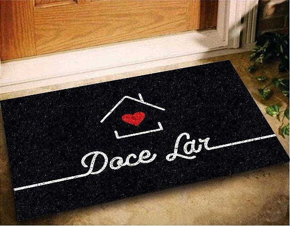 Tapete Capacho Doce Lar 60x40 Amor Love Casa Entrada Apto