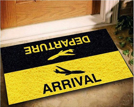 Tapete Capacho Arrival/Departure 60x40 - PRETO