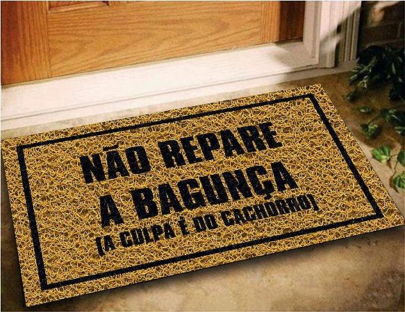Tapete Capacho Emborrachado Personalizado Pet Cachorro 60x40 - Ouro