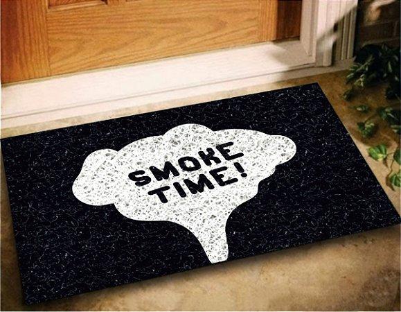 Tapete Capacho Divertido Smoke Time Fumaça 60x40 Entra Porta