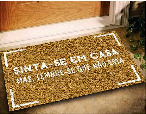 Tapete Capacho Sinta em Casa 60x40 Decorativo Entrada Lar