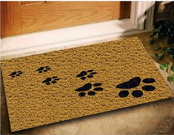 Tapete Capacho Patinhas Pegadas Pet Dog 60x40 Cachorro Casa