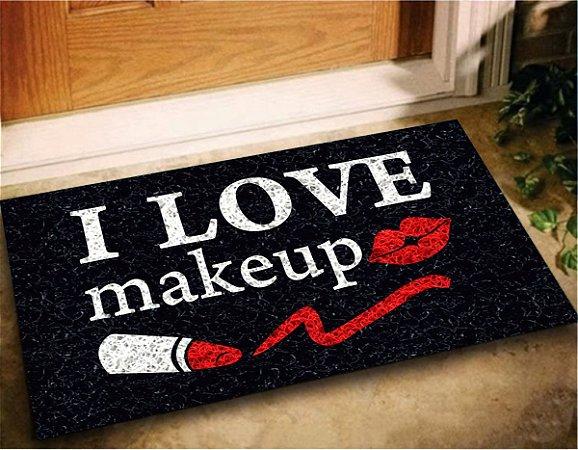 Tapete Capacho I Love Makeup 60x40 Maquiagem Menina Decora