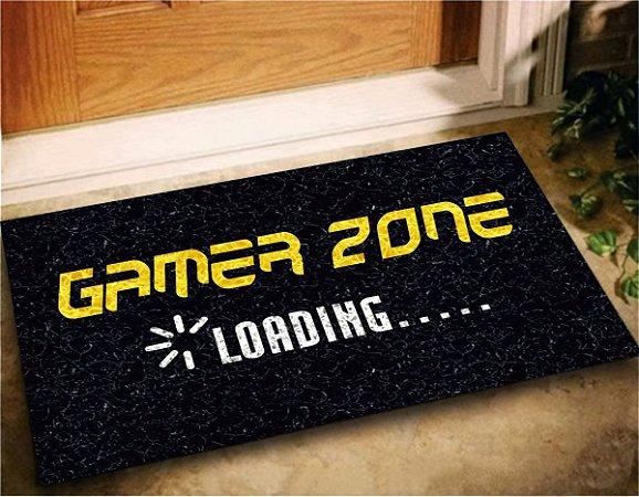 Tapete Capacho Gamer Zone 60x40 Porta Entrada Jogos Play Lar