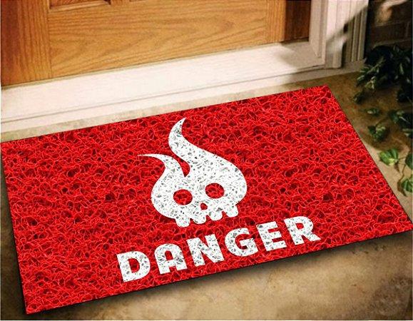 Tapete Capacho Divertido Danger 60x40 Decore Casa Home Porta