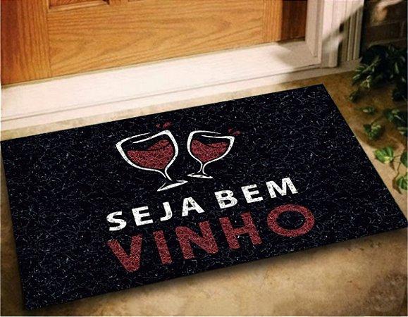 Tapete Capacho Seja Bem Vinho 60x40 Decorativo Para Casa Lar