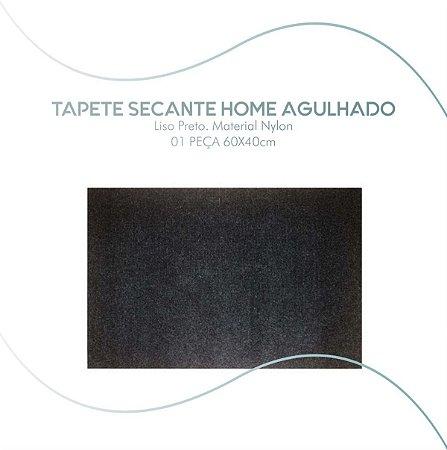 Tapete Home Agulhado Secante Grafite 60x40cm Nylon Sanitizante