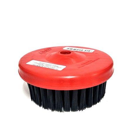 Escova Rotativa Média 120 Rosca M14 Copetec Preta/Vermelha