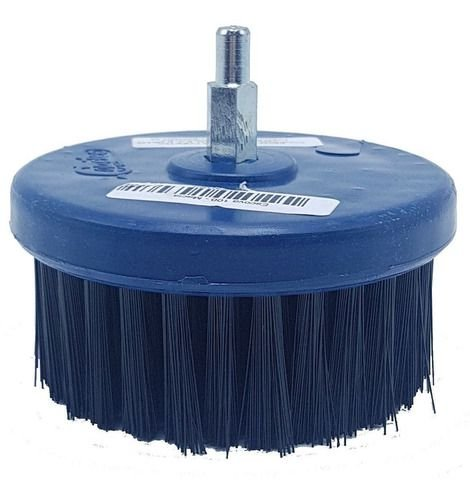 Escova Rotativa Macia 100 C/Eixo Copetec Azul