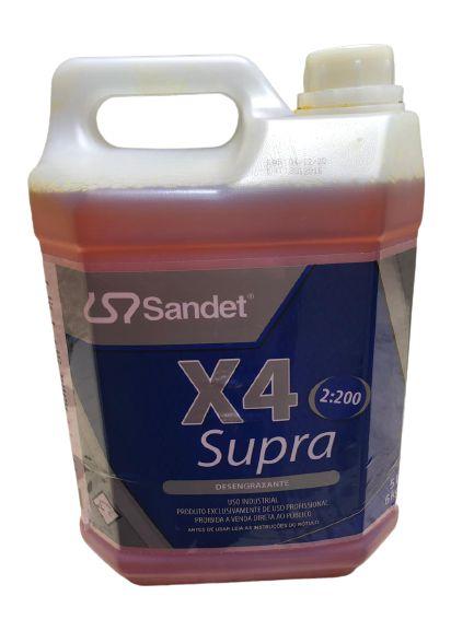 X4 SUPRA 5L SANDET - DESENGRAXANTE SEM CHEIRO 1:100