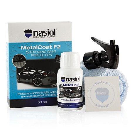 NASIOL MetalCoat F2 - Nanoproteção para Pintura, Metais, Plásticos e Lanternas (50ml)