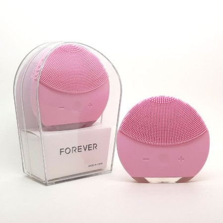 Escova Esponja Forever de limpeza de pele facial Massageadora de Silicone