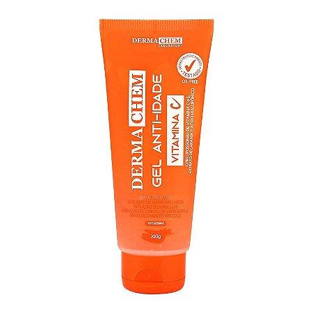 DermaChem Facial Gel Anti-idade Vitamina C E Ácido Hialurônico  100g