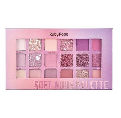 Paleta De Sombra Soft Nude Feels Ruby Rose Hb-1045
