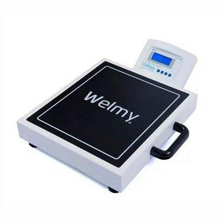 Balança Adulto Profissional Portátil Bateria 200kg/50g - W200M Branca - Selo Inmetro - Welmy