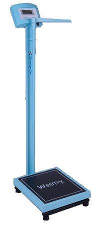 Balança Médica Eletrônica Antropômetro W200a 100g Azul Welmy