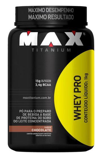 Whey Pro 1kg Chocolate - MAX TITANIUM SUPLEMENTOS