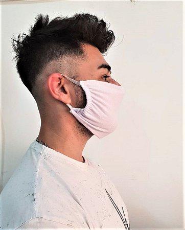 Máscara Lavável Malha 100% Algodão Dupla Camada 9 Peças