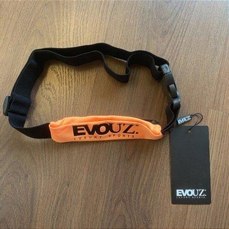 Porta Celular Fitness De Tecido Com Zíper Com Elástico Evouz