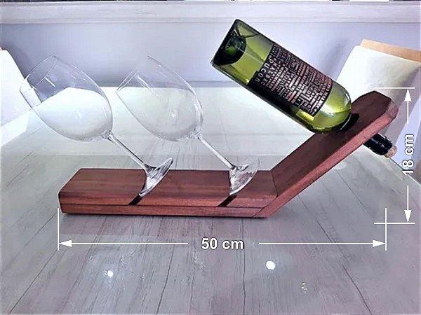 Suporte De Vinho Barca Em Madeira Maciça De 2cm (espessura)