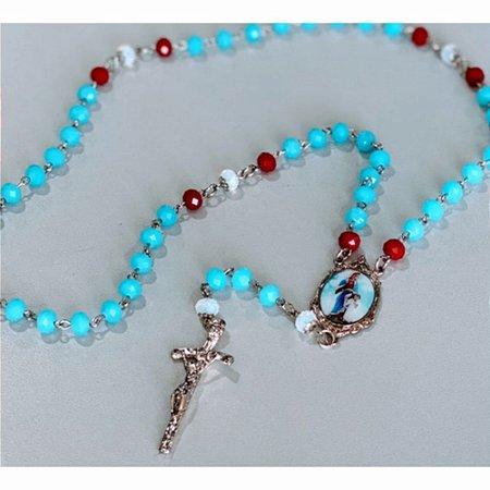 Terço Maria Passa Na Frente - De Cristais Trançados