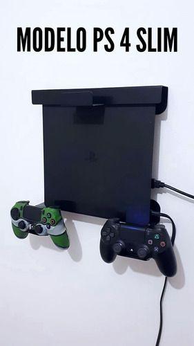 Suporte Parede Ps4 Playstation E Controles E Fone De Ouvido