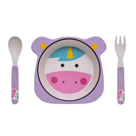 Kit Alimentação Unicórnio Eco Girotondo Baby - 3 unidades