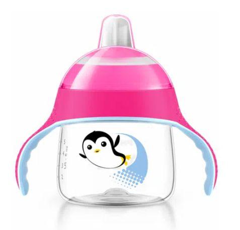 Copo Pinguim 200ml Rosa