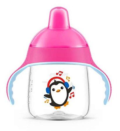 Copo Pinguim 260ml Rosa