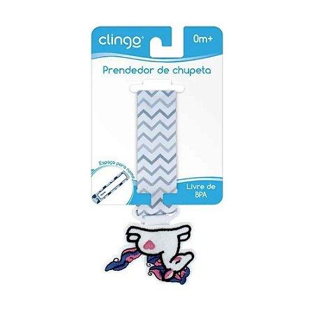 Prendedor de chupetas Unicórnio - Clingo