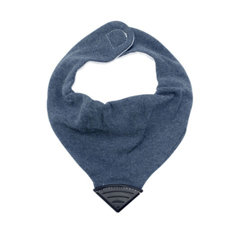 Babador Bandana com Mordedor - Jeans Azul - Clingo
