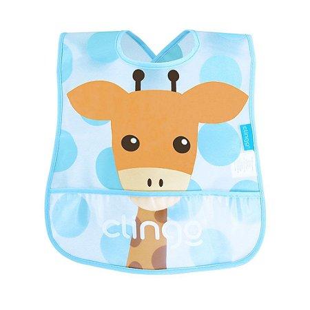 Babador impermeável com bolso – Girafa - Clingo