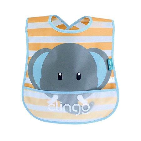 Babador impermeável – Elefante - Clingo