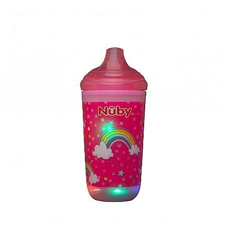 Copo Térmico Pisca-Pisca com Bico Rígido 300ml - Rosa - Nuby