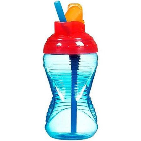 Copo Grande com Canudo Mighty Grip - Azul e Vermelho - Munchkin