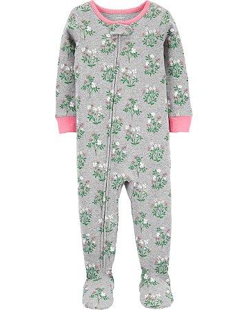 Pijama com pé - Floral