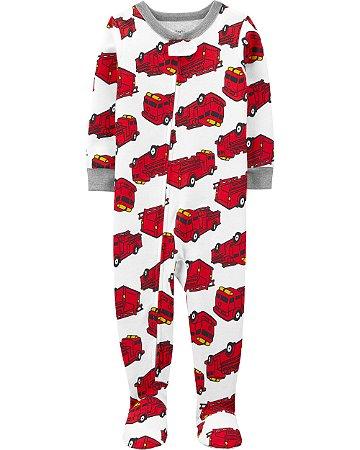 Pijama com pé - Carro de bombeiro