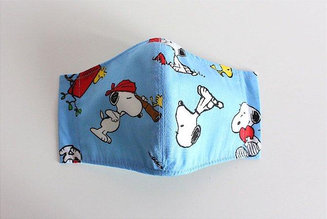 Máscara de Proteção Adulto - Snoopy Azul