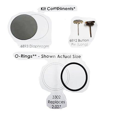 Kit Reparo 1º Estágio Reguladores Dc1, Dc2, Dc3, Dcx Hollis