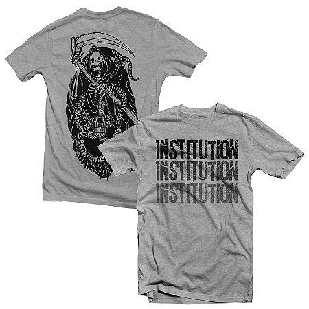 """Death"" Camiseta Cinza Mescla"