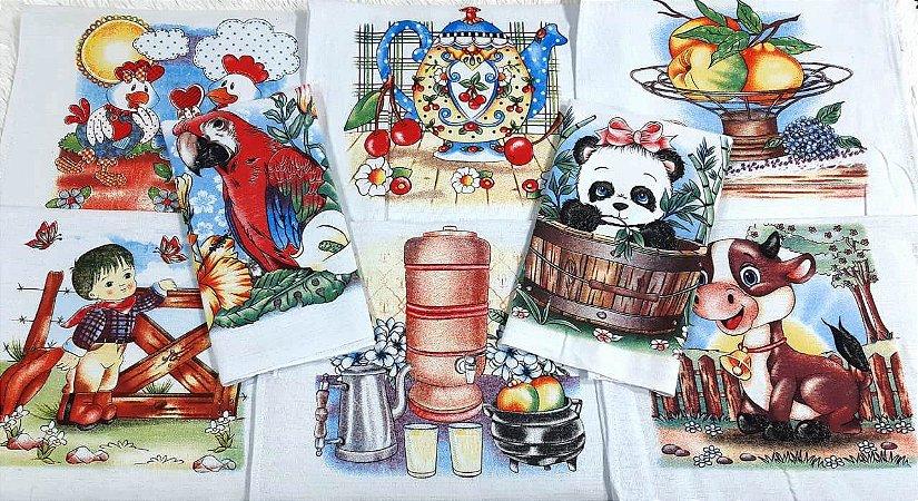 Pano de Prato Estampado com Bainha 100% algodão 40x65cm Rubi - Engomatextil