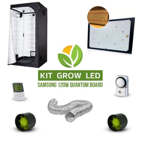 Kit Grow LED Cultivo Indoor Completo Quantum Board Samsung