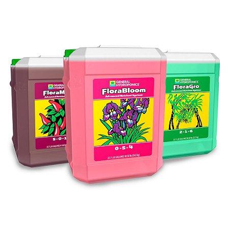 Kit General Hydroponics Flora Series - FloraGro FloraMicro e FloraBloom 22,7 litros