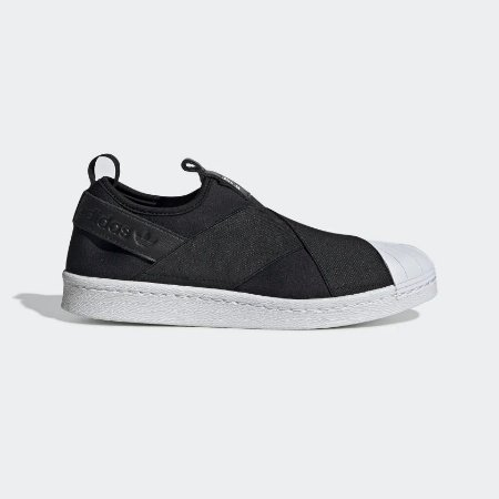 TÊNIS ADIDAS SUPERSTAR SLIP ON - PRETO E BRANCO